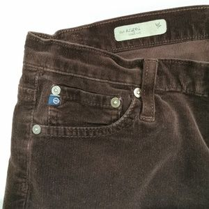 Ag Adriano Goldschmied Pants - AG Adriano Goldschmied | Burgundy Skinny Cords